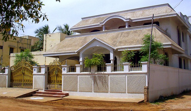 House Compound Wall Design Furnished : A house in madurai pic flickr photo sharing