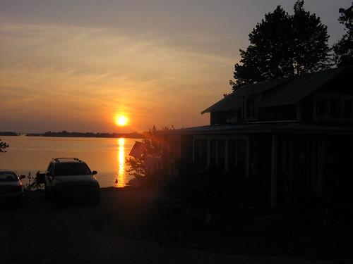 sunset lake silhouette 2006 champlain jul vt stalbans vttrip havarest stalbansbay