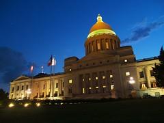 AR Capitol at night