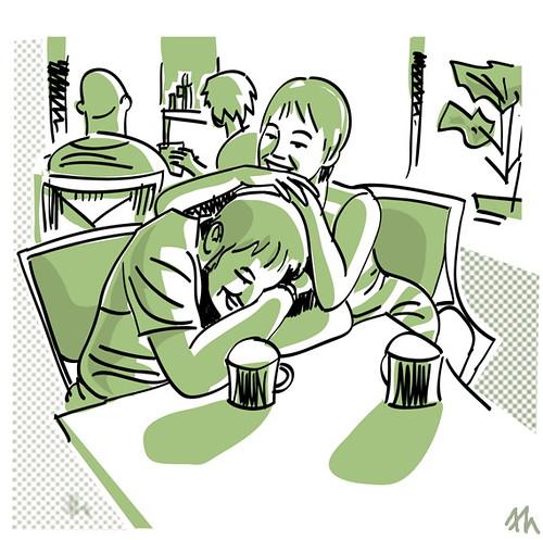 2 lattes // 2 cafés con leche by Frank.Hilzerman