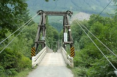 transport(0.0), truss bridge(0.0), rope bridge(0.0), rolling stock(0.0), track(0.0), suspension bridge(1.0), canopy walkway(1.0), bridge(1.0),