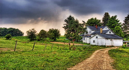 Amish Home in Pennsylvania Countryside