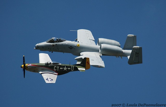 Heritage Flight (A-10 & P-51)