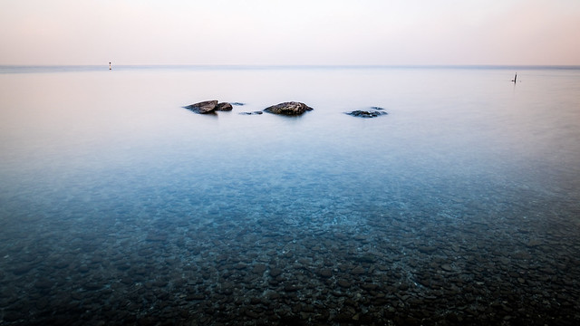 Rocks in Garda lake - Sirmione, Italy - Fine art photography
