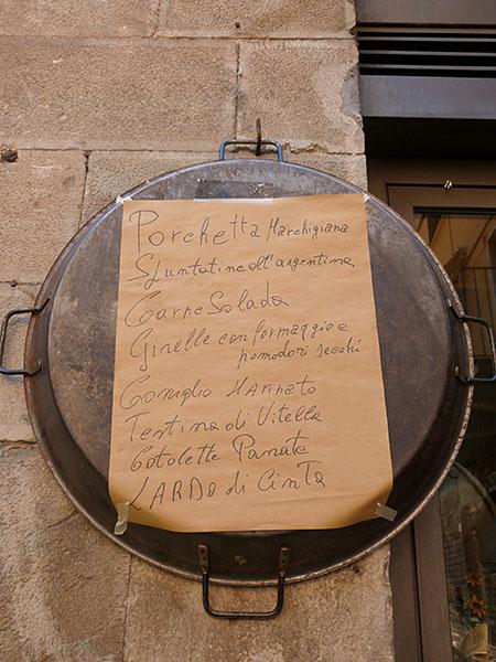 menu sur poêle