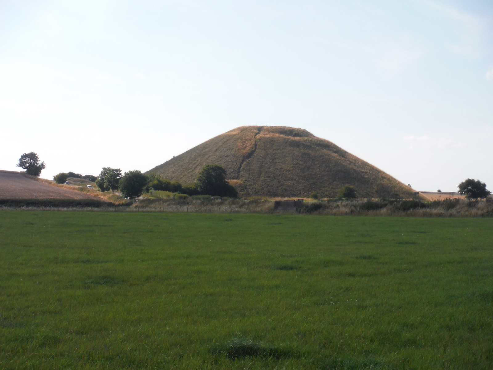 Silbury Hill from the Kennet, near West Kennett Long Barrow SWC Walk 255 Pewsey or Marlborough Circular via Avebury