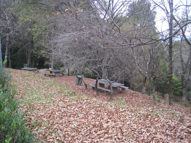 Área recreativa en la Senda Botánica del Castillo de Sobroso