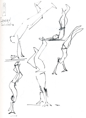 Sketchbook #92: My Life Drawing Class - Capoeira