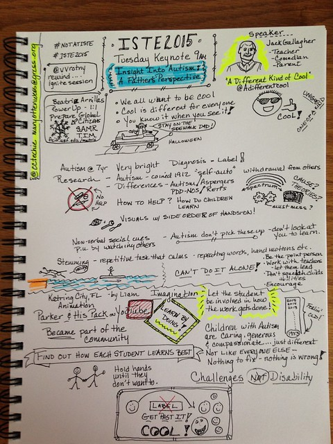 """Sketchnoters' Stories - """"Sketchnote is a Good Thing for Education"""" by Mary Ottenwess"""