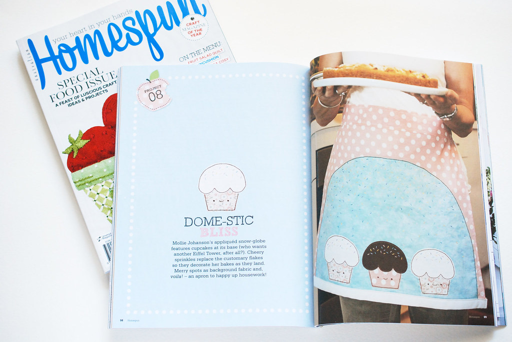 Dome-estic Apron in Homespun Magazine