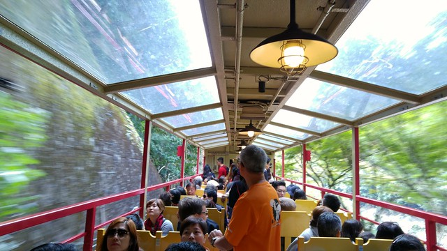 On the Sagano Scenic Railway