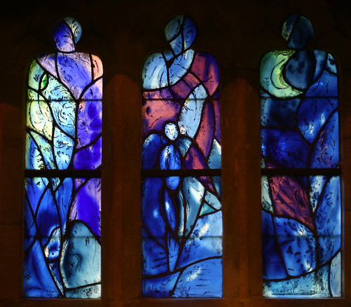 Stained glass by Marc Chagall, All Saints, Tudely, Kent