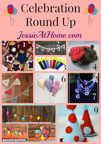 Celebration Crochet Pattern Round Up from Jessie At Home