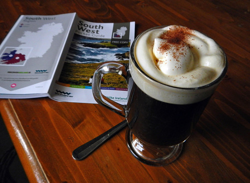At the Village Inn Pub in Ardgroom, I had this Irish Coffee