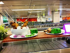 If you ever come to #Singapore and landed in #changiairport; do note that we have a special way of welcoming you by creating an emotional link to your stomach. #goodfood #singaporestyle #ilovesingapore #satay #conveyorbelt #spicy #spicyfood #foodtodiefor