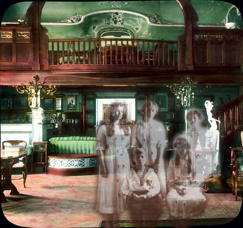 The ghosts of the Tsar's children in the Maple Room.