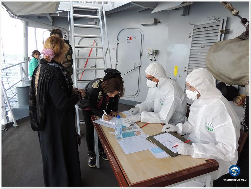 Rescue by belgian ship BNS Leopold I – Op. Sophia EUNAVFOR MED