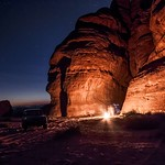 Camping between the rocks, under the stars