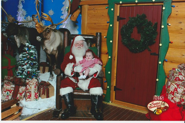 Claire's first Christmas photo with santa!