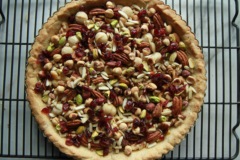 Caramel Nut and Cranberry Tart- Vegan and Gluten Free from HeatherChristo.com