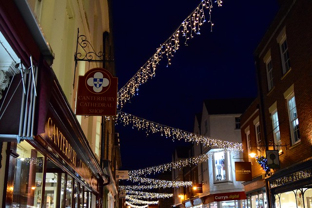 Christmas Lights on Burgate, Canterbury | www.rachelphipps.com @rachelphipps