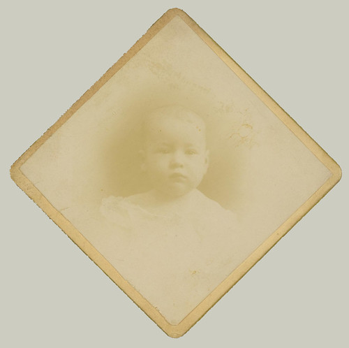 Card Mounted portrait of a Baby