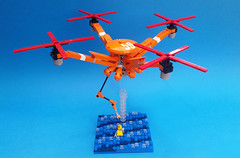 Coast Guard quad drone now with base!