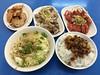 乾麵, 魯肉飯, 現炸雞捲, 肝連, 現炸紅燒肉, 三粒米粉湯魯肉飯, 台北