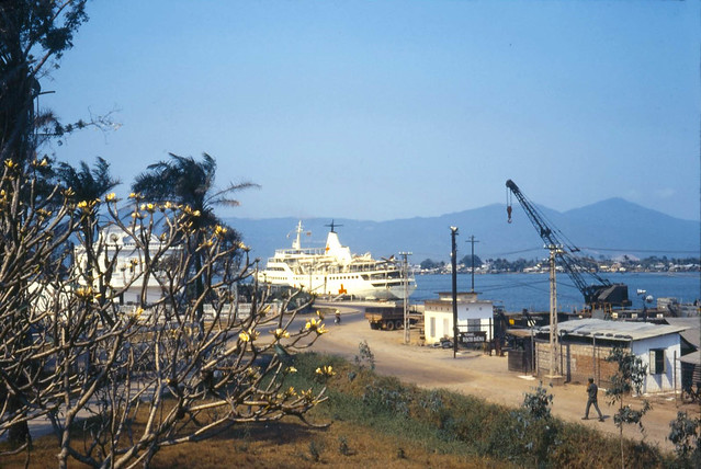 1971 Hospital Ship Helgoland - Mar '71 Danang waterfront showing 'Helgoland'