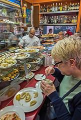 Eating Valencian Style (Tapas -  La Boatella Tapas Bar ( Valencia - Spain)  (Fujifilm X70 APS-C Compact with 21mm f2.8 Prime lens)   (1 of 1)