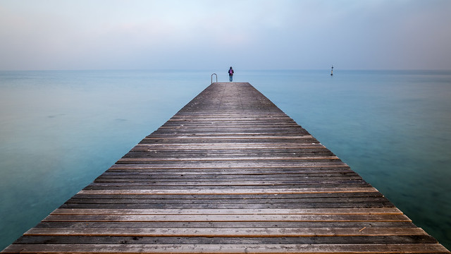 Girl on Garda lake - Sirmione, Italy - Fine art photography