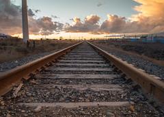 Sunset crossing the rails