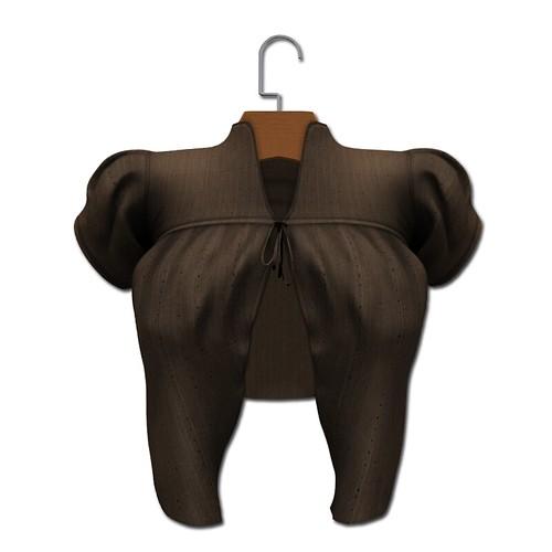 {MYNX} Tie Sweater - Brown