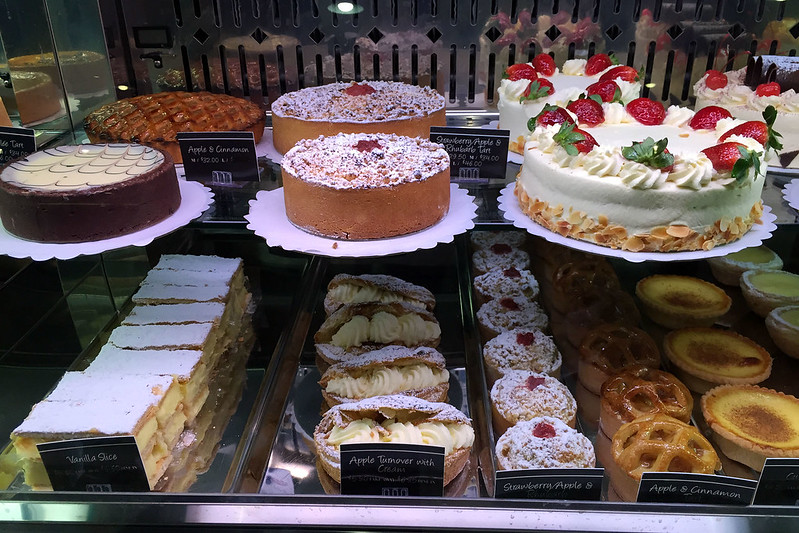 Cake display, Pattison's Patisserie