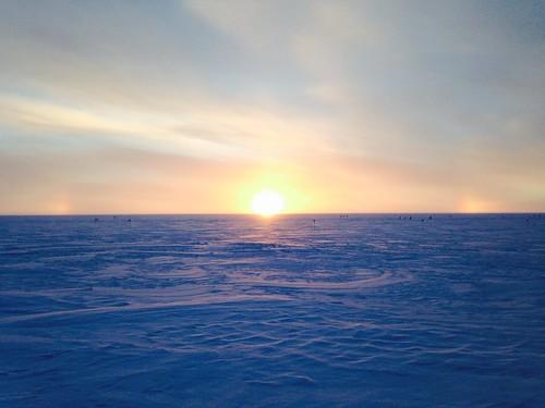 sunset greenland summit summitstation