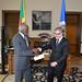 OAS Secretary General Delivers Aid Relief to Representative of Dominica