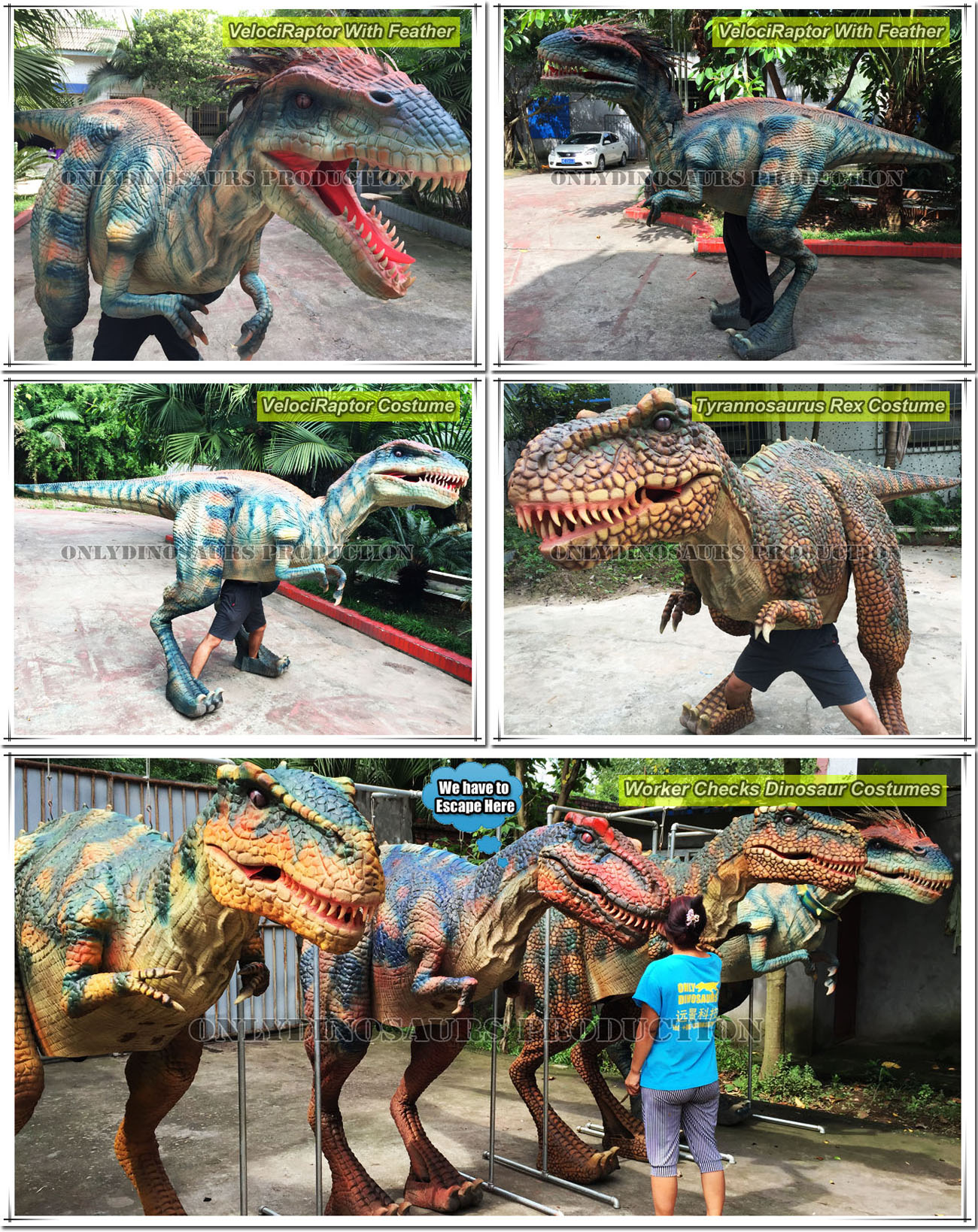 Hot-Sales Dinosaur Costumes Display