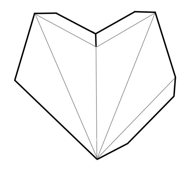 Скачать шаблон объемной звезды из бумаги