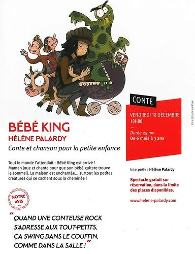 LA QUINTAINE à Chasseneuil-du-Poitou - 2015 - conte pour enfants : BEBE KING - 18 12 2015