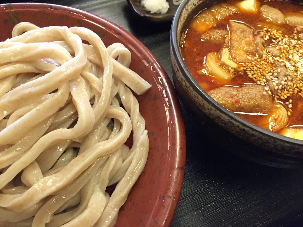 武蔵野うどん とこ井_肉辛汁