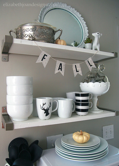 Fall Shelf Decorating