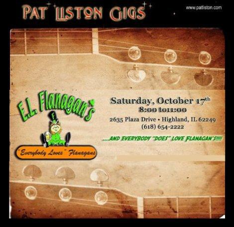 Pat Liston Gigs 10-17-15
