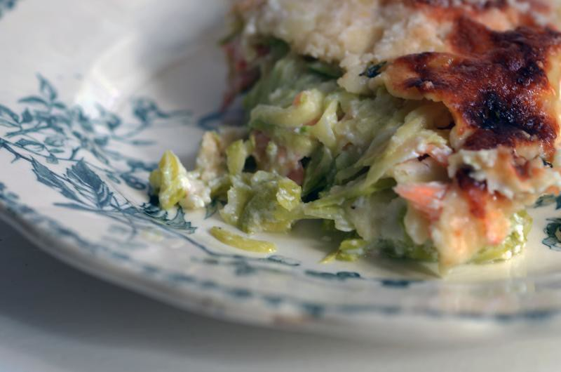 heirloom zucchini season ends in lasagna