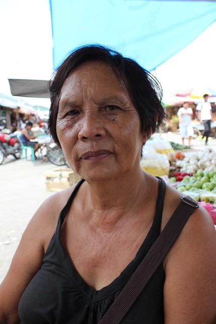 Local Carigara public market vendor Teresa Nivera.