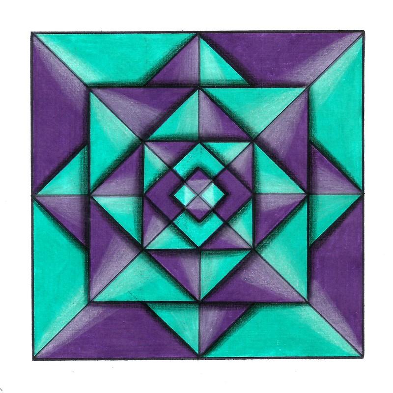 Geometric Abstract Drawings – Mystery Light • ESTEFANIA QUINTERO