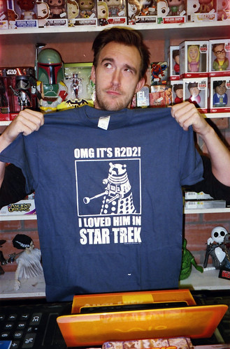 Jens showing off his new geek tee