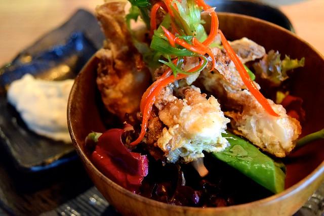 Soft Shell Crab Tempura Salad at Murakami, Covent Garden | www.rachelphipps.com @rachelphipps
