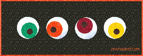 Eyeball Table Runner using Mad Eye's Magical Eye pattern (sewhooked.com)