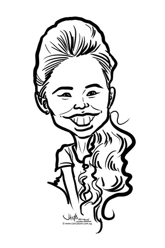 digital caricature live sketching for Standard Chartered Bank 2015 - 16