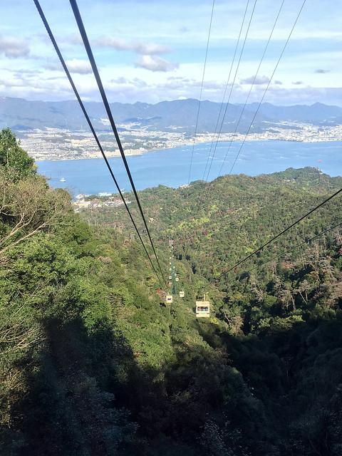 宮島ロープウェーからの眺め